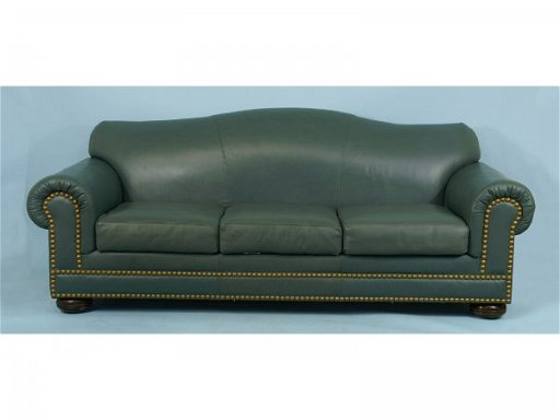 149: CAMELBACK LEATHER SOFA BY FLEXSTEEL FURNITURE CO