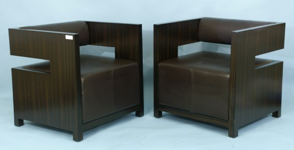 1201: CONTEMPORARY LEATHER CHAIRS BY KING GROUP CO