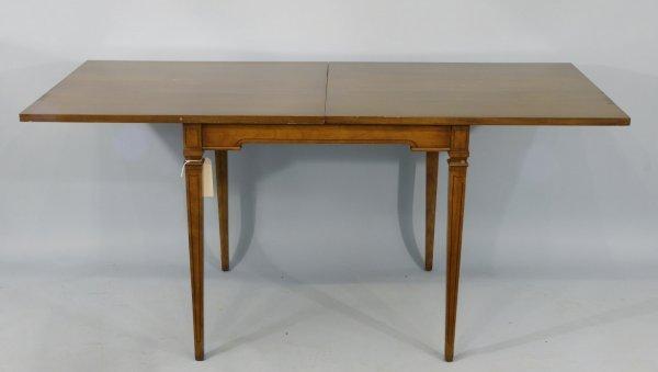 21: MAHOGANY FLIP-TOP TABLE