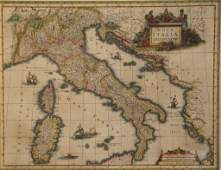 19th CENTURY WILLIAM BLAEU ITALY ENGRAVING