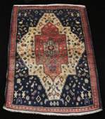 SEMI ANTIQUE HAND KNOTTED PERSIAN JOZAN RUG