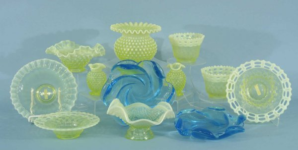 1001: BOX LOT OF VASELINE GLASSWARE