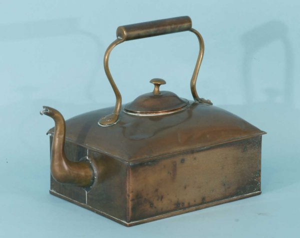 2: ANTIQUE RECTANGULAR COPPER KETTLE
