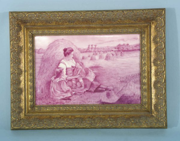 11: FRAMED PORCELAIN PLAQUE