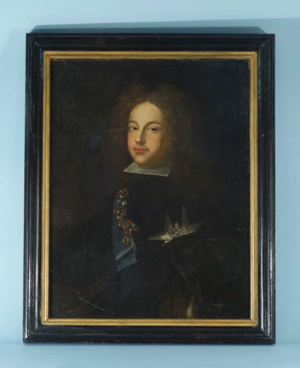12: ANTIQUE FRAMED OIL ON CANVAS PORTRAIT