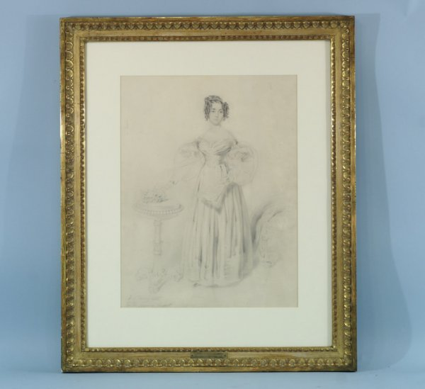 "23: PENCIL DRAWING SIGNED ""SIR THOMAS LAWRENCE"""