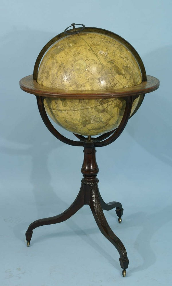 93: ANTIQUE EARLY 19th C. BRITISH CELESIAL GLOBE