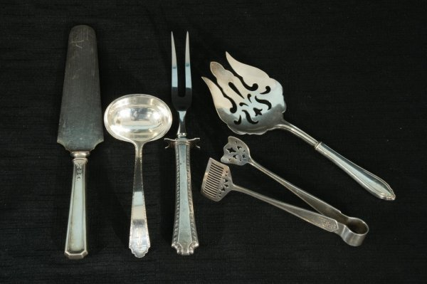 151: LOT OF FIVE STERLING SILVER SERVING PIECES