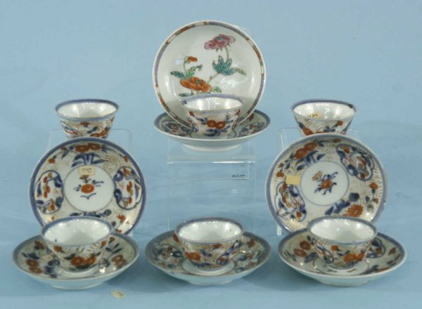 164: ANTIQUE SET OF JAPANESE CUPS AND SAUCERS