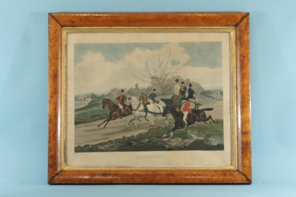 """194: FRAMED ENGRAVING """"RIDING TO THE MEET"""""""