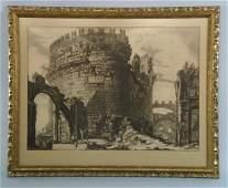 231 ANTIQUE 18th CENTURY PIRANESI ENGRAVING
