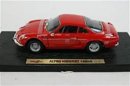 SET OF 2 MODEL CARS - ALPINE & AUDI TT