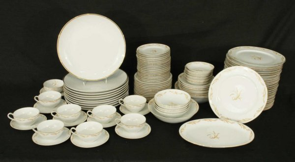 """1003: SET OF """"ABALONE CHINA"""" BY GOLDEN GRAIN, JAPAN"""