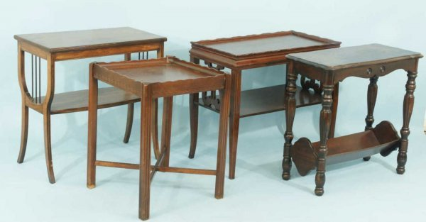 1022: LOT OF FOUR ACCENT TABLES