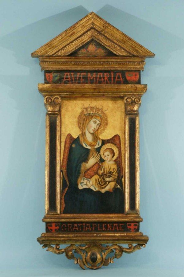 23: AVE MARIA MADONNA AND CHILD, CIRCA 17/18th CENTURY