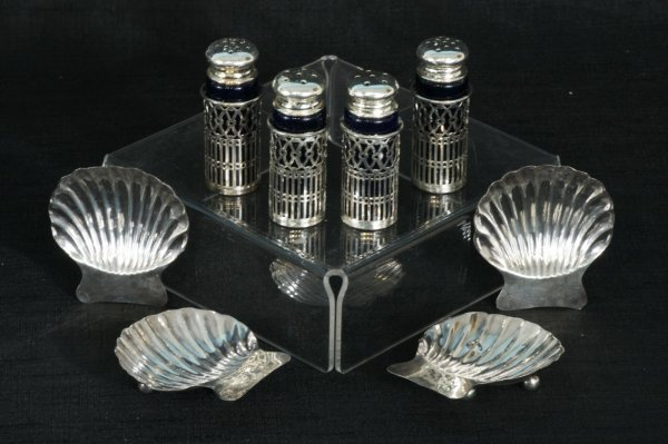 151: LOT OF STERLING SILVER SALT AND PEPPER SHAKERS