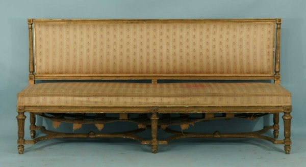 166: 19th CENTURY FRENCH CARVED AND GILTWOOD CANAPE