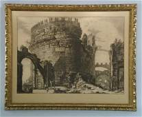 ANTIQUE 18th CENTURY PIRANESI ENGRAVING