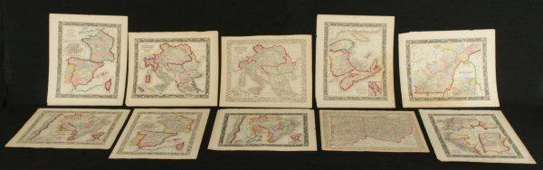 164: LOT OF 10 MITCHELL WORLD MAPS