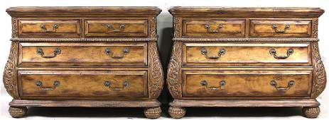 """PAIR OF MARGE CARSON """"ETRUSCAN"""" MARBLE TOP CHESTS"""