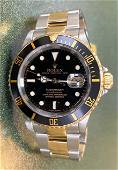ROLEX GOLD & STAINLESS STEEL BLACK DIAL SUBMARINER