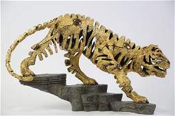 CONTEMPORARY BRONZE SCULPTURE OF TIGER #84/225