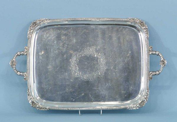 1010: A SILVERPLATE PLATTER BY WALKER & HALL, SHEFFIELD