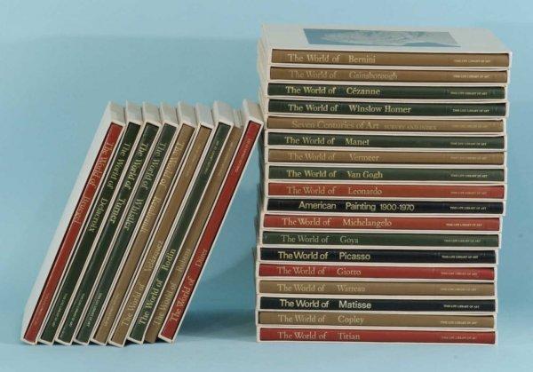 "1012A: SET OF TWENTY-SEVEN ""ART BOOKS"""
