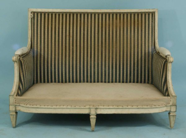 1013: ANTIQUE FRENCH 19TH C. LOUIS XVI SETTEE