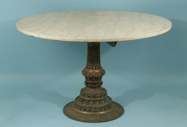 1020: ANTIQUE INDIAN BRONZE TABLE BASE