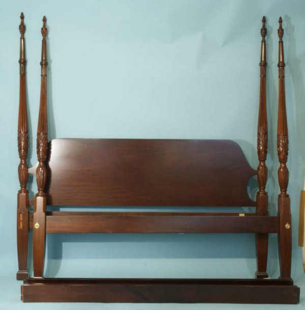 1077: KING SIZE FOUR POSTER BED BY COUNCIL CRAFTSMEN