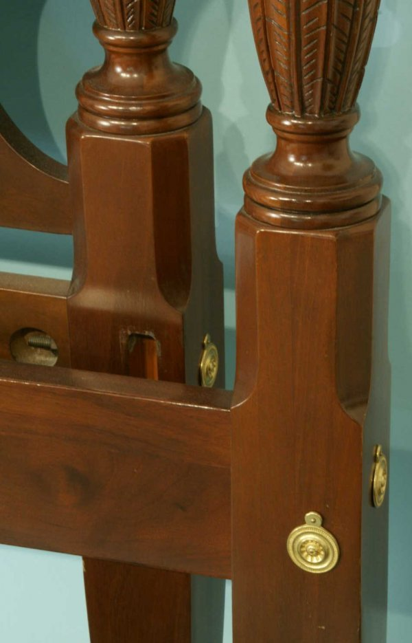 1077: KING SIZE FOUR POSTER BED BY COUNCIL CRAFTSMEN - 5