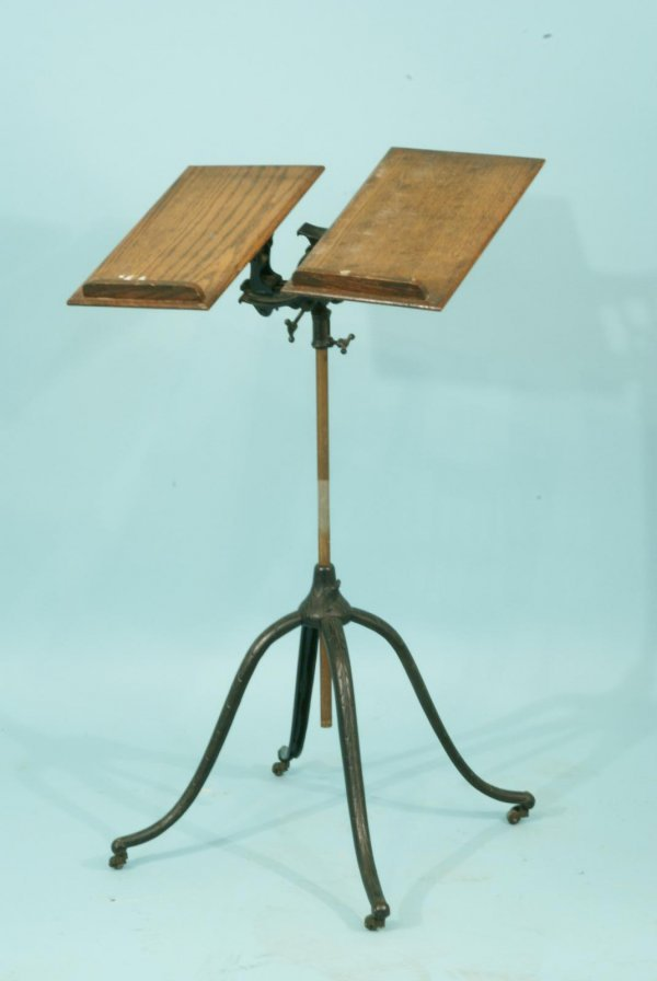 1191: ANTIQUE ADJUSTABLE BOOK STAND