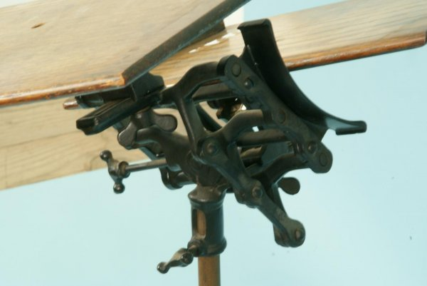 1191: ANTIQUE ADJUSTABLE BOOK STAND - 4