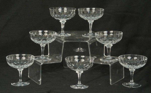 8: SEVEN CRYSTAL STEMMED DESSERT CUPS