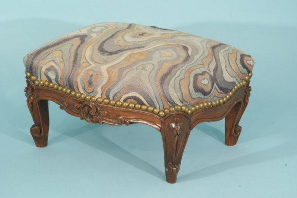 14: ANTIQUE FRENCH PETITE FOOT STOOL