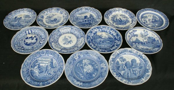 2: TWELVE PLATES BY SPODE BLUE ROOM COLLECTION