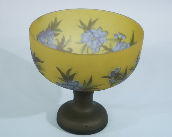 """9: FOOTED BOWL, SIGNED """"GALLE"""""""