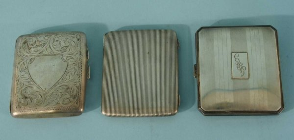 13: LOT OF THREE STERLING SILVER ENGLISH CASES