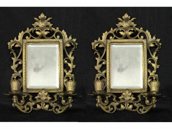 14: PAIR OF MIRRORED SCONCES
