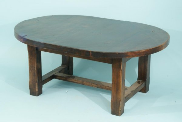 20: OVAL LINGUE (WALNUT) COCKTAIL TABLE