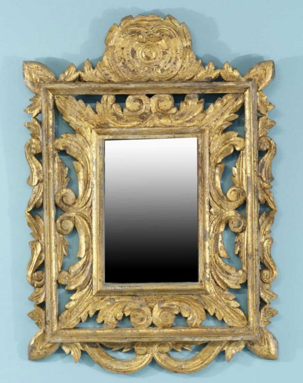 6: WOOD CARVED AND GILDED MIRROR