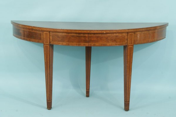 16: BURL WOOD AND INLAID FLIP-TOP TABLE, ca. 19th
