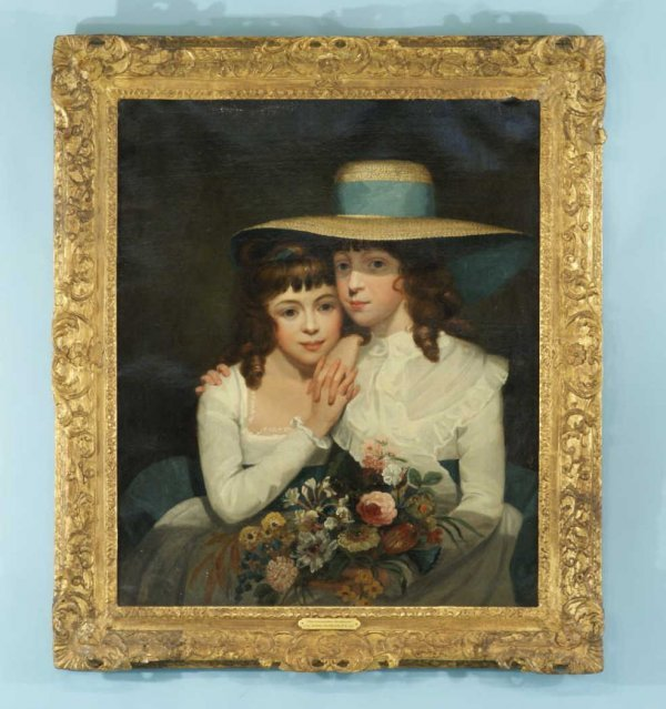 """45: """"THE LEICESTER SISTERS"""", ATTRIBUTED TO NORTHCOTE"""