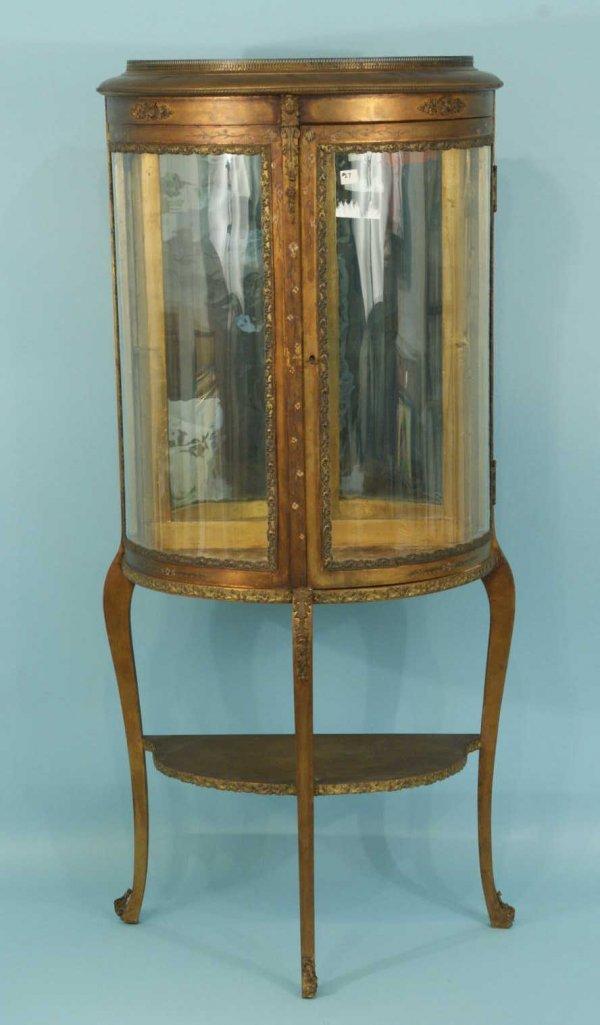 154: ANTIQUE FRENCH VITRINE, CIRCA 1880's