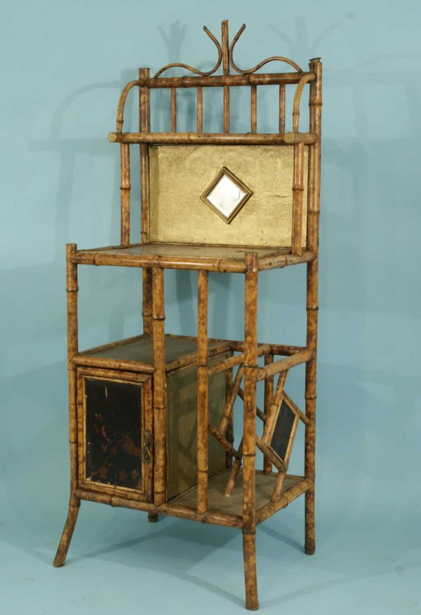 155: ANTIQUE BAMBOO ETAGERE'