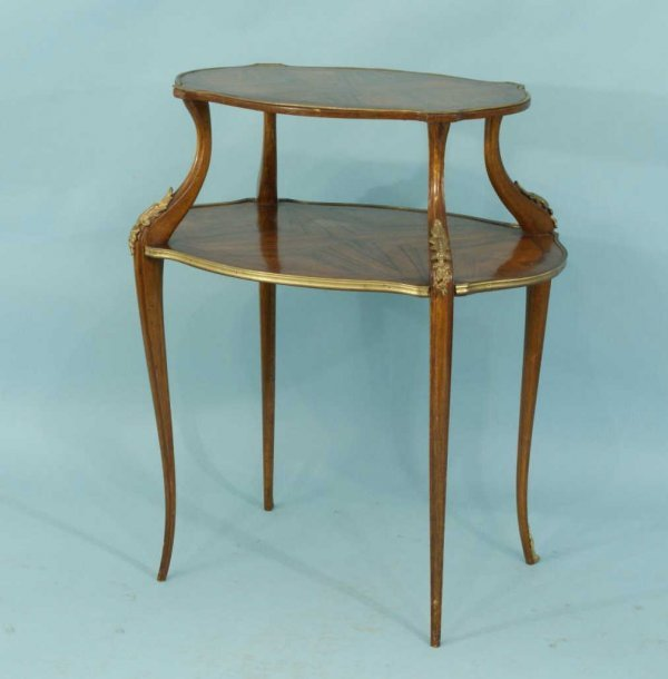 157: LOUIS XVI ROSEWOOD DESSERT TABLE, CIRCA 1920
