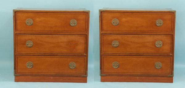 163: PAIR OF ASIAN CHEST OF DRAWERS