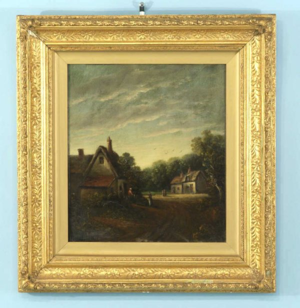 169: 19th CENTURY COTTAGE SCENE, SIGNED J. MOORE