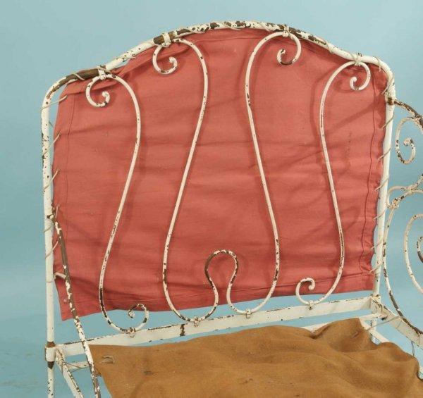 44: ANTIQUE FRENCH WROUGHT IRON CAMPAIGN DAY BED - 4